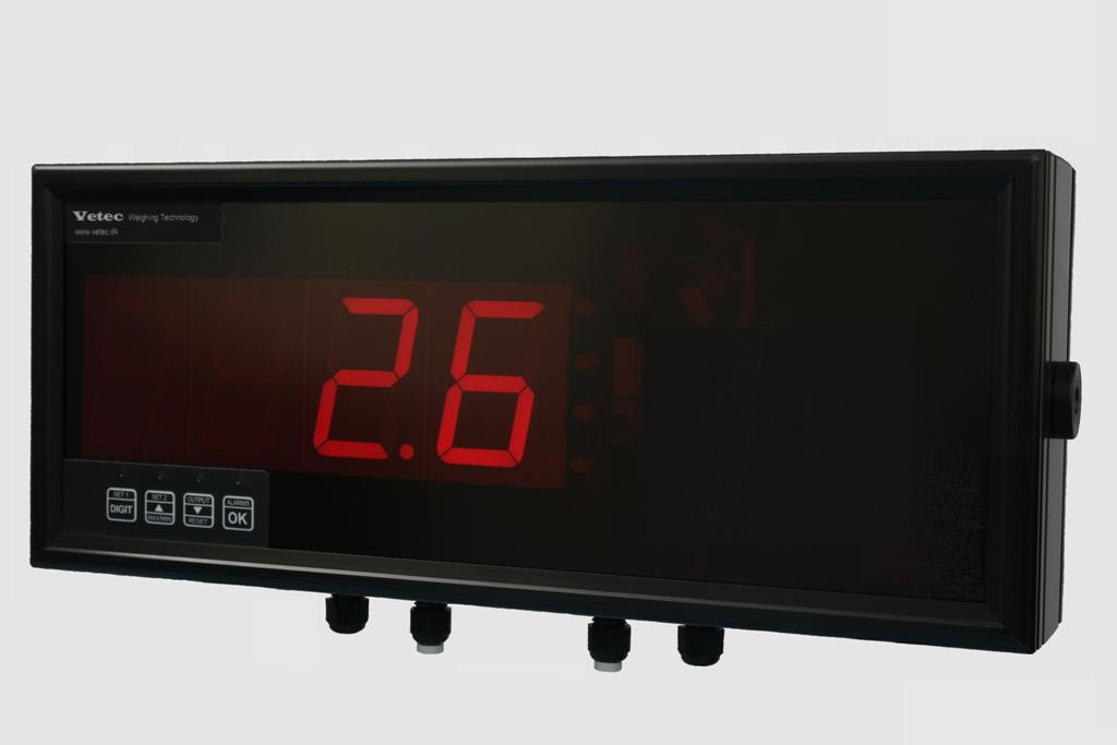 vetec display for crane load